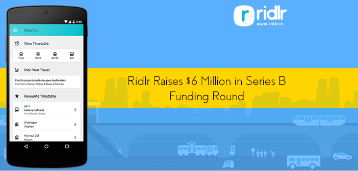 Ridlr Raises $6 Million From Times Internet and Others in Series B Funding Round
