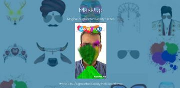 Augmented Reality Holi Experience with MaskUp!
